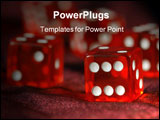 PowerPoint Template - Red Dice to play dice with white points.