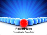 PowerPoint Template - Many blue spheres in front of many others red