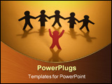 PowerPoint Template - Success Concept on orange background.