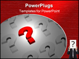 PowerPoint Template - 3d bright red question mark.