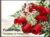 PowerPoint Template - picture of a dozen red roses