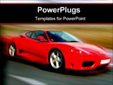 PowerPoint Template - red sport car