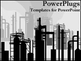 PowerPoint Template - Refineries creating pollution.