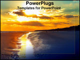 PowerPoint Template - A beautiful sunsut on Hilton Head Beach.