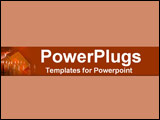 PowerPoint Template - Warm internal shot of candle rows layed over open