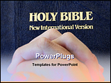 PowerPoint Template - hands folded on a bible to pray
