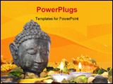 PowerPoint Template - Head of god with candles and dry flowers