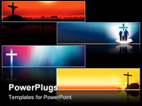 PowerPoint Template - Website banners with space left for message