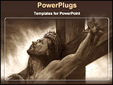 PowerPoint Template - artistic image of Jesus