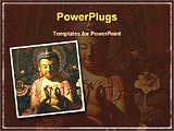 PowerPoint Template - image showing buddha