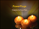 PowerPoint Template - image showing candles on reflected surface