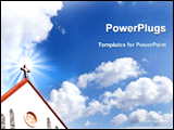 PowerPoint Template - image of a church