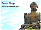 PowerPoint Template - statue of gautam buddha