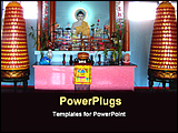 PowerPoint Template - inside a buddha temple