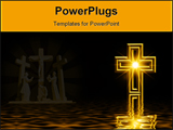 PowerPoint Template - yellow cross