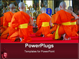 PowerPoint Template - wat saket, bangkok, thailand