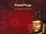 PowerPoint Template - Budha head on red background