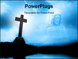 PowerPoint Template - Almighty god in blue