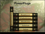 PowerPoint Template - Religion books