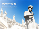 PowerPoint Template - Statue of Saint Peter holding the keys of the Christian church in Saint Peter