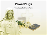 PowerPoint Template - Jesus Christ and religion book