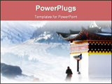 PowerPoint Template - A tibetan prayer praying around the temple