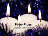 PowerPoint Template - four white candles