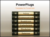 PowerPoint Template - books about religion