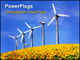 PowerPoint Template - windmill renewable energy sourch