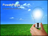 PowerPoint Template - Eco light bulb solar renewable energy concept