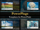 PowerPoint Template - Different kinds of reusable energy sources.