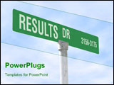 PowerPoint Template - A street sign with a Results theme