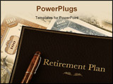 PowerPoint Template - retirement plan portfolio on top of vintage stock certificates