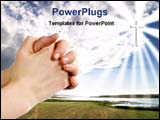 PowerPoint Template - praying god for blessing