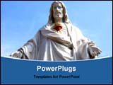PowerPoint Template - statue of Jesus