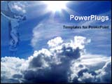 PowerPoint Template - Jesus blessing from heaven