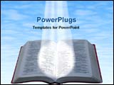 PowerPoint Template - falling spotlight on a bible