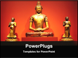PowerPoint Template - a golden statue of lord buddha