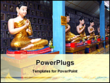 PowerPoint Template - burmese buddha statue in different mood