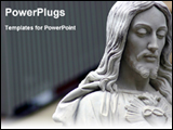 PowerPoint Template - statue of jesus christ