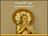 PowerPoint Template - golden statue of a Buddha