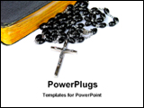 PowerPoint Template - a rosary beads with bible