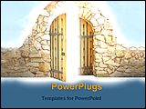 PowerPoint Template - image of enchanting door
