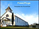 PowerPoint Template - old American pioneer country church