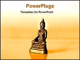PowerPoint Template - statue of gold Buddha