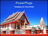 PowerPoint Template - image of buddhist temple