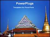 PowerPoint Template - a view of a Thailand temple