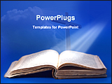 PowerPoint Template - light rays falling on bible