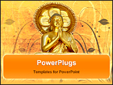 PowerPoint Template - statue of a golden buddha