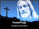 PowerPoint Template - jesus with stars in night sky